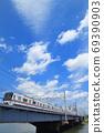Toei Subway Series 5300 train crossing the Nakagawa Bridge 69390903
