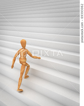 Mannequin climbing stairs 69393062
