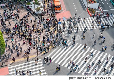 【도쿄】 시부야 스크램블 교차로 69393449