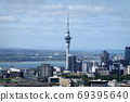 View of the skyline of Auckland from Mount Eden, New Zealand  69395640