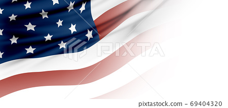USA or American flag background with copy space 69404320