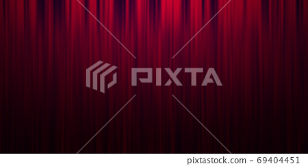 Red stage curtain background 69404451