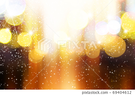 Abstract blurred light with snow background 69404612