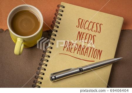 Success needs preparation motivational note 69406404