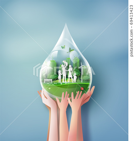 Concept of ecology and environment 69413423