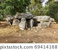 Dolmen of Mane Braz - megalithic monument in Brittany 69414168