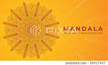 Luxury Mandala Art Vector Illustration. Abstract Background Desi 69417447