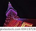 无限钻石面纱东京铁塔在晚上 69419728