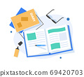 Take note of the diary,flat design icon vector illustration 69420703