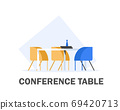 conference table meeting,Meeting room,flat design icon vector illustration 69420713