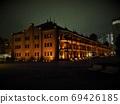 横滨红砖仓库照亮,港未来夜景 69426185