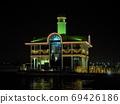 横滨普卡里森大桥照亮,夜景,港未来 69426186