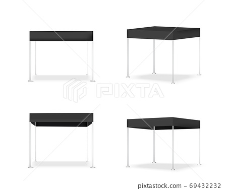 3D Mock up Realistic Tent Display POP Booth for Sale Marketing Promotion Exhibition Background Illustration 69432232