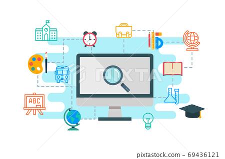 Education & e-learning concept flat design 69436121