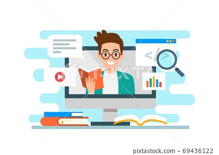 Education & e-learning concept flat design 69436122