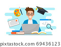 Education & e-learning concept flat design 69436123