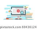 Education & e-learning concept flat design 69436124