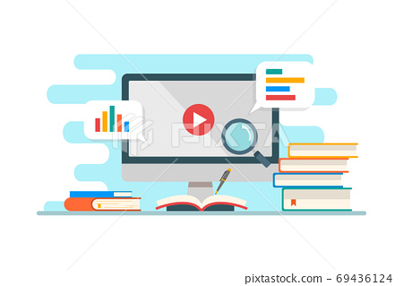Education & e-learning concept flat design 69436124