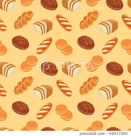 Bread and cereal seamless pattern. Food pattern. Vector 69437060