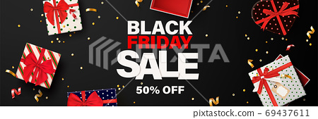 Black friday banner template for web. 69437611