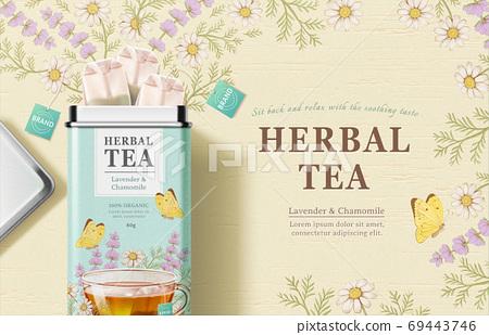 Engraved herbal tea bag ad 69443746