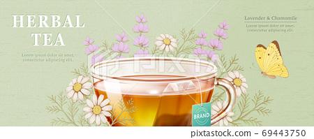 Engraved herbal tea ad 69443750