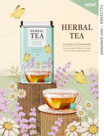 Engraved herbal tea ad 69443751