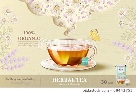 Refreshing herbal tea ad 69443753