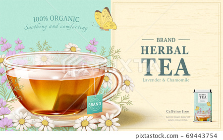 Lavender and Chamomile tea ad 69443754