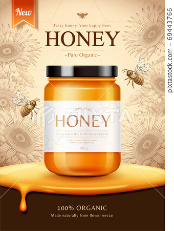 Sunflower honey ad 69443766