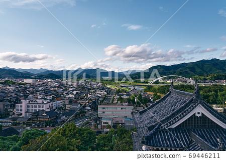 후 쿠치 야마 성 천수각에서보기 69446211