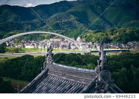 후 쿠치 야마 성 천수각에서보기 69446213