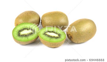 kiwi fruit and half kiwi fruit isolated on white background 69446668