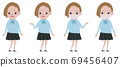 High school girl whole body set 69456407