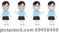High school girl whole body set 69456409