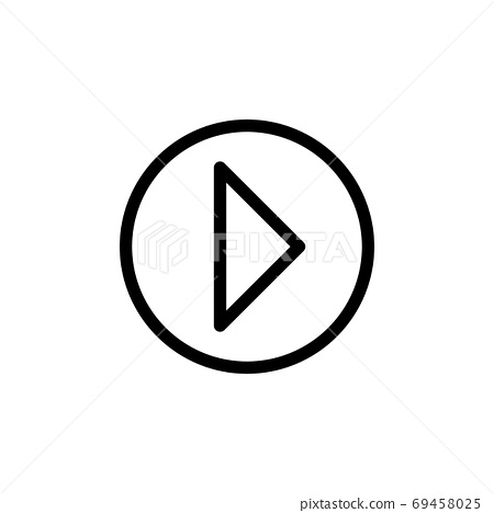 play button line icon vector illustration 69458025
