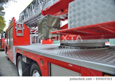 [神奈川縣]橫須賀市消防車在首次消防儀式上被釋放 69464563