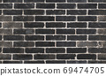 Seamless brick wall concrete texture. Weathered brick wall texture. Old brick wall exterior. 69474705