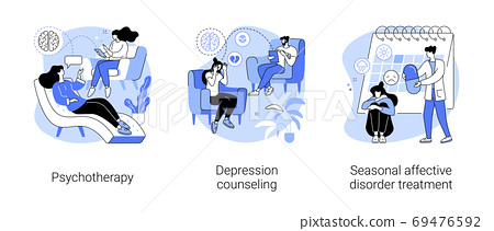 Mental health abstract concept vector illustrations. 69476592