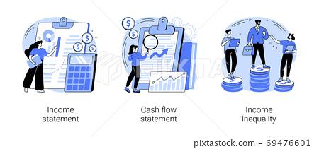 Balance sheet abstract concept vector illustrations. 69476601