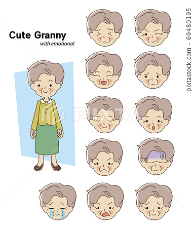 Elderly woman character 69480195