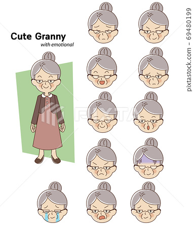 Elderly woman character 69480199