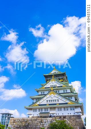 大阪城和藍天大阪府旅遊景點 69485511