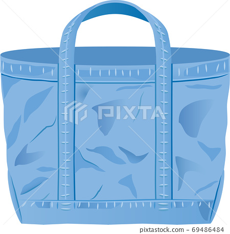 Denim fabric tote bag 69486484