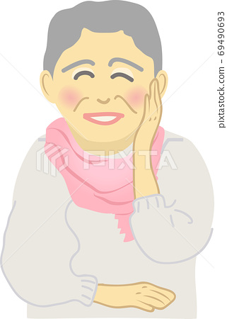 Senior woman with a smile 69490693
