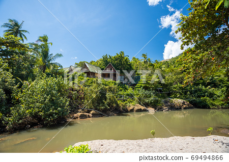 Canal at Haad Thansadet in Phangan Island, Thailand 69494866