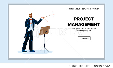 Project Management And Leadership Manager Vector Illustration 69497782