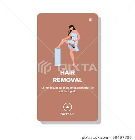 Hair Removal Beauty Procedure Smooth Skin Vector 69497789