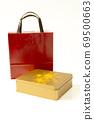 金色禮盒,手提袋,禮物,ゴールデンギフトボックス、ハンドバッグ、プレゼント、Gift box, 69500663