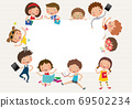 Education of Preschool Children, white space for your text entry, vector, illustration 69502234